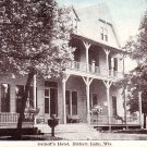 Osthoff's Hotel at Elkhart Lake Wisconsin WI, Vintage Postcard - 3447