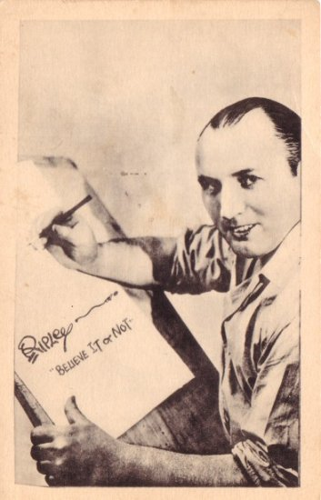 Robert Ripley of Ripley's Believe It or Not Fame Vintage Postcard - 3459