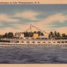 M.V. Mount Washington on Lake Winnipesaukee in New Hampshire NH, Linen Postcard - 3484