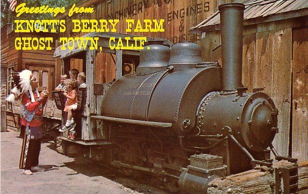 Old Betsy at Knott's Berry Farm in Ghost Town California CA, Chrome Postcard - 3497