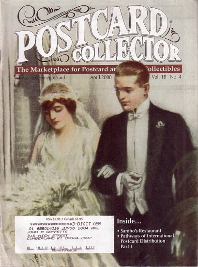 April 2000 Postcard Collector Magazine Antique Trader Publication