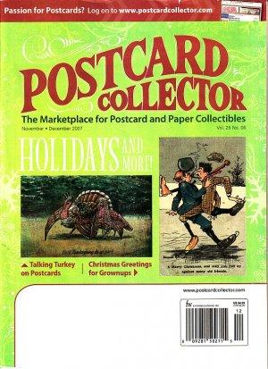 November December 2007 Postcard Collector Magazine Krause Publications