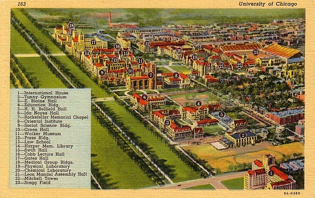 University of Chicago Illinois IL, 1938 Curt Teich Linen Postcard - 3502