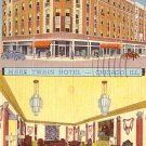 Mark Twain Hotel in Chicago Illinois IL, Curt Teich 1939 Linen Postcard - 3506