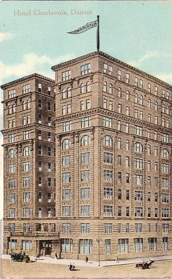 Hotel Charlevoix in Detroit Michigan MI, Vintage Postcard - 3510