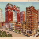 In the Heart of Memphis Tennessee TN, 1932 Curt Teich Linen Postcard - 3518