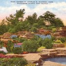 Rock Garden at Charles B. Whitnall Park in Milwaukee Wisconsin WI, Linen Postcard - 3522