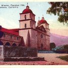 Santa Barbara Mission Founded 1786 at California CA, Vintage Postcard - 3526