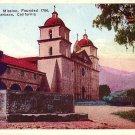 Santa Barbara Mission Founded 1786 at California CA, Vintage Postcard - 3526