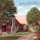 Old Matt's Cabin, Shepherd of the Hills Fame in Branson Missouri MO, Linen Postcard - 3546