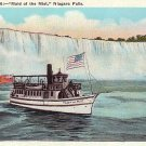 Mid of the Mist, Steamer Excursion Boat at Niagara Falls New York NY, Vintage Postcard - 3552