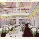 Upper Deck Dining Room in Bernstein's Fish Grotto at San Francisco California CA, Postcard - 3557