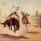 His First Experience by Cowboy Artist L.H. Larsen 1940 Linen Postcard - 3594
