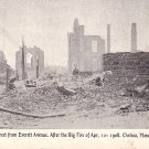 After the Big Fire of April 12, 1908 in Chelsea Massachusetts MA, Vintage Postcard - 3631