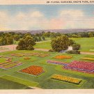 Floral Gardens in Swope Park at Kansas City Missouri MO, 1932 Curt Teich Linen Postcard - 3671