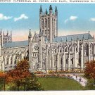 Washington Cathedral SS. Peter and Paul in Washington D.C., Vintage Postcard - 3728