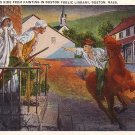 Paul Revere's Ride Through Concord  Massachusetts MA Vintage Postcard - 3739