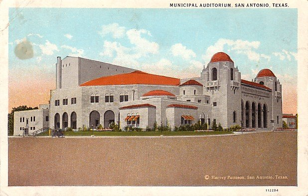 Municipal Auditorium in San Antonio Texas TX, Vintage Postcard - 3747