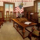 New Jersey Room at D.A.R. Hall in Washington DC, Vintage Postcard - 3750