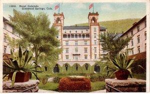 Hotel Colorado in Glenwood Springs Colorado CO, 1927 Vintage Postcard - 3798