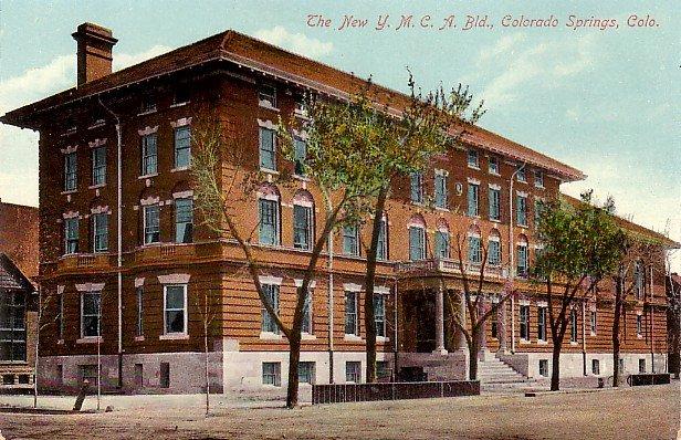 Y.M.C.A. Building in Colorado Springs CO, Vintage Postcard - 3809