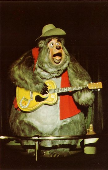 Big Al from The Country Bear Jamboree at Walt Disney World in Florida, Chrome Postcard - 3820