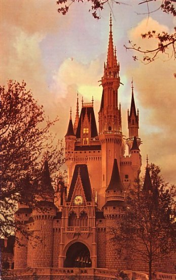 Cinderella Castle at Walt Disney World in Florida, Chrome Postcard - 3822
