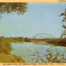 Rio Grande River with Gateway Bridge in Brownsville Texas TX, Postcard - 3826