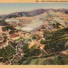 Utah Copper Mine at Bingham Canyon UT, 1935 Curt Teich Linen Postcard - 3832