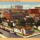 Arkansas Territorial Capitol in Little Rock AR, Linen Postcard - 3843