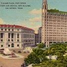 Alamo Plaza in San Antonio Texas TX, 1943 Mid Century Linen Postcard - 3848