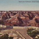 North from Verkamp's, Grand Canyon National Park in Arizona AZ 1948 Curt Teich Linen Postcard - 3859