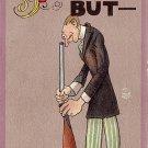 Man Holding Gun to Face, John O. Winsch 1911 Vintage Postcard - 3870