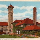 Union Depot at Portland Oregon OR, Curt Teich Vintage Postcard - 3874