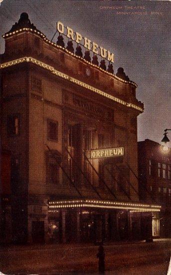The Orpheum Theatre at Minneapolis Minnesota MN, Vintage Postcard - 3887