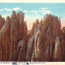 Among the Needles in Custer State Park, Black Hills South Dakota Vintage Postcard - 4002