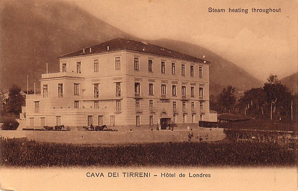 Cava Dei Tirreni, Hotel de Londres in Italy, Vintage Postcard - 3929