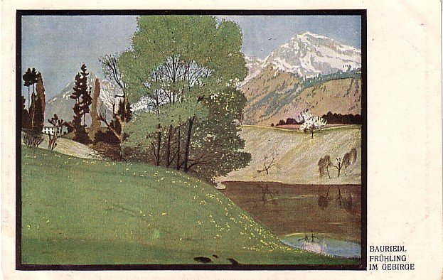 Spring in the Mountains, 1911 Vintage Postcard - 3931