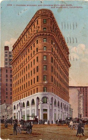 Crocker Building in San Francisco California CA, Edward H Mitchell 1909 Vintage Postcard - M0014
