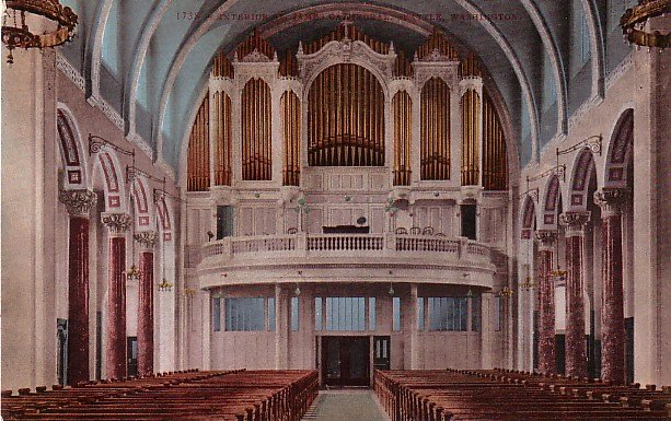 St James Cathedral Interior in Seattle WA, Edward H Mitchell 1909 Vintage Postcard - M0024