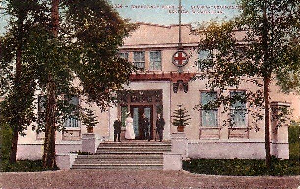 AYPE Exposition, Emergency Hospital in Seattle Washington WA,  Edward H Mitchell Postcard - M0026