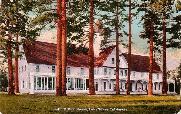 Tallac House in Lake Tahoe California CA, Edward H Mitchell 1910 Postcard - M0048