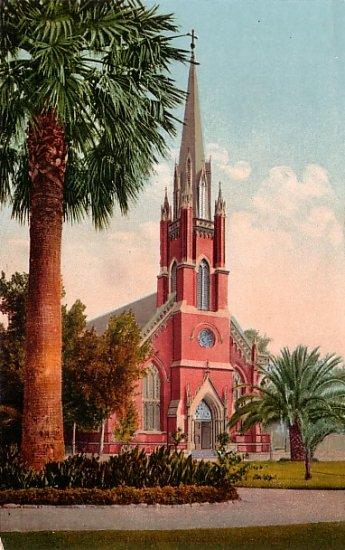 Catholic Church in Stockton California CA, Edward H Mitchell 1910 Vintage Postcard - M0073