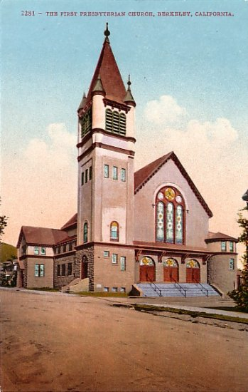 First Presbyterian Church in Berkeley California CA, Edward H Mitchell 1910 Vintage Postcard - M0084