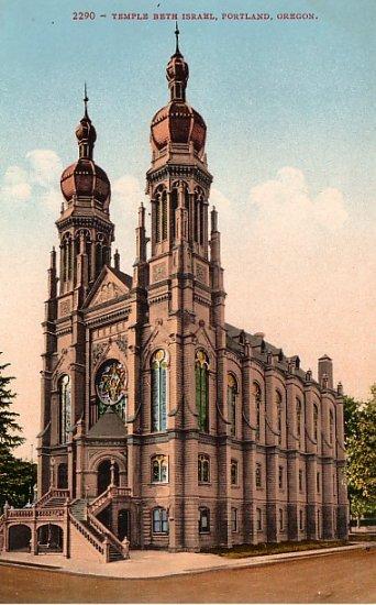 Temple Beth Israel in Portland Oregon OR, Edward H Mitchell 1910 Vintage Postcard - M0087