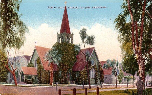 Trinity Church in San Jose California CA, Edward H Mitchell 1910 Vintage Postcard - M0092