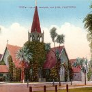 Trinity Church in San Jose California CA, Edward H Mitchell 1910 Vintage Postcard - M0092