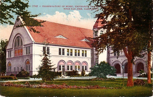Conservatory of Music, University of the Pacific, San Jose CA Edward H Mitchell Postcard - M0093
