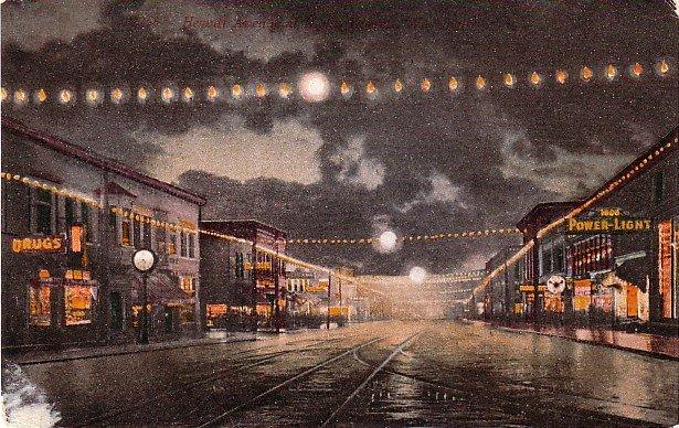 Hewitt Avenue in Everett Washington WA, Edward H Mitchell 1910 Vintage Postcard - M0111