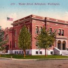 Roeder School in Bellingham Washington WA, Edward H Mitchell 1910 Vintage Postcard - M0116